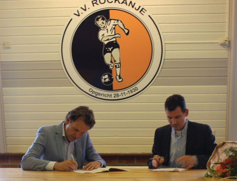 vv Rockanje en Klip en van Wijk makelaars tekenen samenwerking