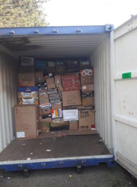 Geen papier container op sportpark Drenkeling